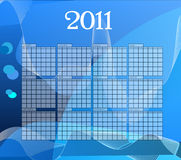 Calender 2011. Blue  calender of year 2011 Royalty Free Stock Image