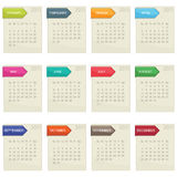 Calender for 2011 Stock Images
