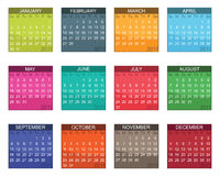 Calender for 2011. In bright colours isolated on white Royalty Free Stock Images