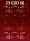 Calender for 2011 Royalty Free Stock Photos