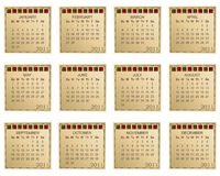 Calender for 2011 Stock Image