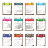 Calender for 2011. In clip board design isolated on white Royalty Free Stock Photography