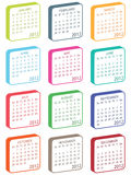 Calender for 2012 Stock Images