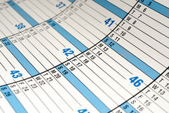 Calender. Horizontal image of a calender royalty free stock images