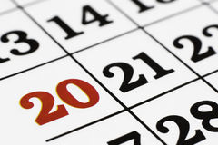 Calender. Over white background,macro royalty free stock images