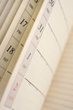 Calender. Vertical image of a calender royalty free stock photos