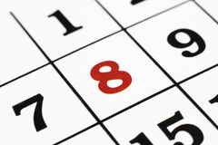 Calender. Over white background,macro Royalty Free Stock Image