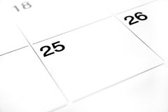 Calender Abstract. A high key calender abstract royalty free stock images