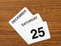 Calender Christmas day 2010. Calender showing Christmas Day, Saturday December 25th 2010 Royalty Free Stock Image