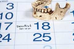 Calender for Dentist Appointment Royalty Free Stock Photo