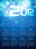 Calender design. Beautiful happy new year calender Stock Images