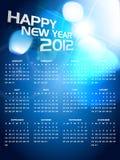 Calender design. Beautiful happy new year shiny calender Stock Image