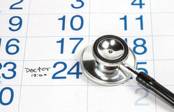 Calender for Doctor Appointment Stock Photography