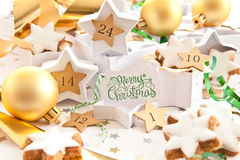 Free Calender For Advent With Cookies Stock Photo - 44947310