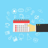 Calender in hand , icon.  Royalty Free Stock Photography