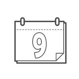 Calender icon. Outline calender icon , vector illustration for web design etc Stock Image