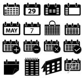 Calender icons set Royalty Free Stock Photo