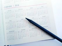 Calender and Month Planner 2018. Date ,month,new year2018nplanning Royalty Free Stock Photo