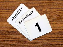 Calender New Year Day 2011 Stock Photo