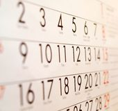 Calender - Organizer Stock Photos