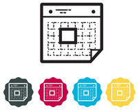 Calender Organizer Icon. Illustration as EPS 10 File Royalty Free Stock Photography