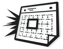 Calender Organizer Icon. Illustration as EPS 10 File Stock Photo