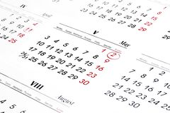 Calender over white background Royalty Free Stock Photography