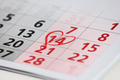Calender page with a detail Royalty Free Stock Photos