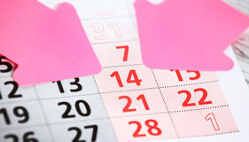 Calender page Stock Photography