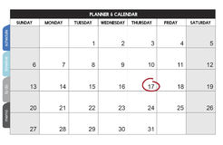 Calender Planner Organization Management Remind Concept stock illustration
