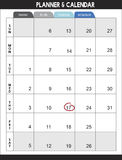 Calender Planner Organization Management Remind Concept.  Stock Photography