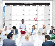 Calender Planner Organization Management Remind Concept stock photography