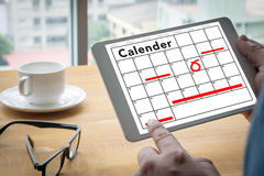 Calender Planner Organization Management Remind Stock Photo
