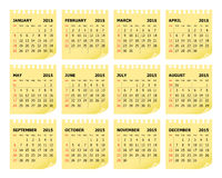 Calender 2015. Simple calendar for 2015 year vector illustration