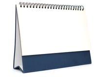Calender table. A white blank calender table Stock Photos