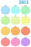 Calender. Vector illustration of a calender colorful  template Stock Image