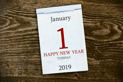 Calender on wooden background royalty free stock image