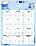 Calender for Year 2008. Calender design for Year 2008 Stock Image