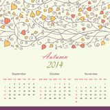 Calender of 2014 year vector Stock Image