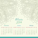 Calender of 2014 year vector Royalty Free Stock Images