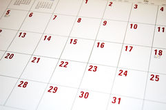 Calendrier 2 Photographie stock