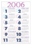 Calendrier 2006 Photographie stock