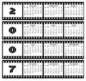 Calendrier 2007 avec la trame de bande de film Photographie stock libre de droits