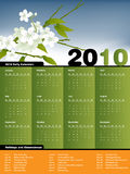 Calendrier 2010 illustration libre de droits