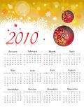 Calendrier 2010 illustration stock