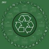 calendrier 2011 illustration libre de droits