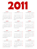 Calendrier 2011 Photographie stock