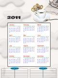 calendrier 2011 photographie stock libre de droits