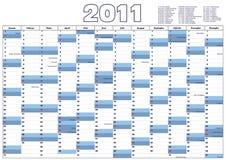 Calendrier 2011 (vecteur) Image libre de droits