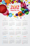 Calendrier 2012 Images stock